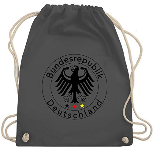 erschaft 2020 - Deutschland Adler Fußball - Unisize - Dunkelgrau - WM110 - Turnbeutel & Gym Bag ()