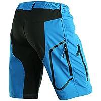 MaMaison007 ARSUXEO Mens Sport equitazione pantaloni corti ciclismo bici bicicletta pantaloni corti-blu -XL