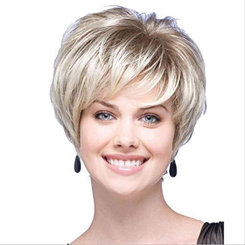 Damen Gepflegtes Gesicht Kurze Gerade Haare Champagner-farbige Europäische Mode Hochtemperatur-seide Perücke Geeignet Für Alle Haut Ton Anlässe (Champagner Tops Farbige)