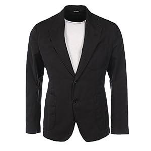 DOLCE & GABBANA Jacket Blue Linen & Cotton Size 48 RRP £850 BZ 105