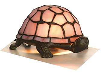 Pink tiffany tortoise lamp amazon lighting bedside and table lamps mozeypictures Gallery