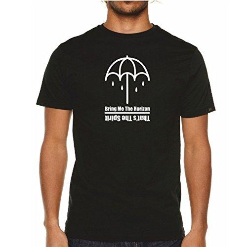 MITEES Herren T-Shirt Schwarz Schwarz Gr. L, Schwarz - Schwarz