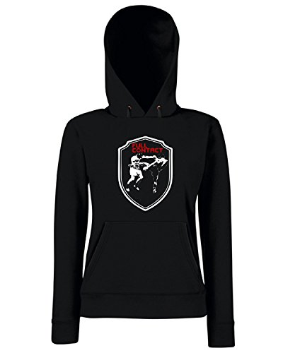 T-Shirtshock - Sweats a capuche Femme TR0047 Full Contact MMA T-Shirt Full Contact Fighter Boxen, Muay Thai, UFC Noir