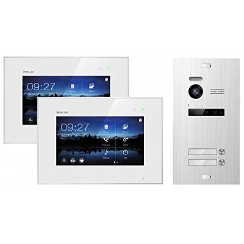 BALTER EVO Video-Türsprechanlage ✓ 2 x Touchscreen 7 Zoll Monitor ✓ 2-Draht BUS ✓ Türstation für 1 Familienhaus ✓ 150° Weitwinkel-Kamera