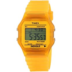 Timex Trend Unisex Digital Watch with LCD Dial Digital Display and Resin Strap T2N804PF