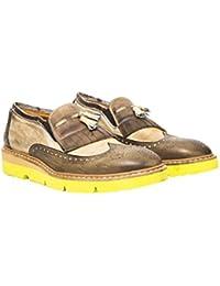 Uomini Italiani - Zapatos Elegantes de Cuero con Cordones Para hombreMade In Italy - Mod. 1432 3332 BUJUbR1