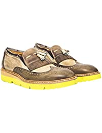Uomini Italiani - Zapatos Elegantes de Cuero con Cordones Para hombreMade In Italy - Mod. 1432 3332