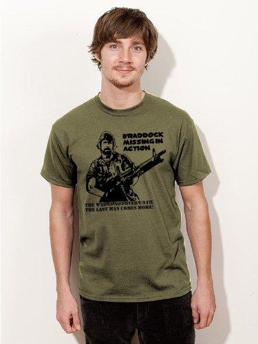 T-Shirt Chuck Norris Braddock Missing in Action Film Shirt olive E162 Gr. XXL