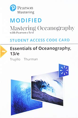 graphy - Modified Mastering Oceanography With Pearson Etext Standalone Access Card ()