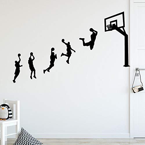 Neue basketball spiel wandaufkleber personalisierte kreative für kinderzimmer diy dekoration kunstdekor tapete m 30 cm x 49 cm