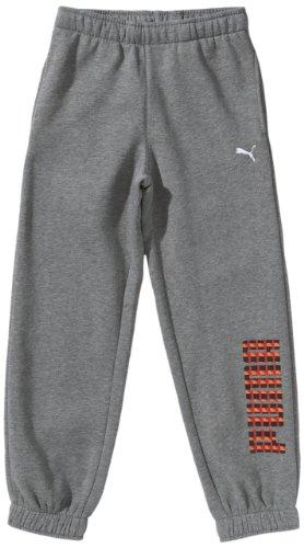 PUMA Jungen Sweat Pant Graphic Closed, medium gray heather, 116, 821924 02 Preisvergleich