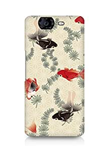 Amez designer printed 3d premium high quality back case cover for Micromax Canvas Knight A350 (Designer Fishes)
