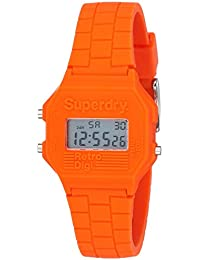 Superdry Mini Retro Digi Digital Orange Dial Women's Watch - SYL201O