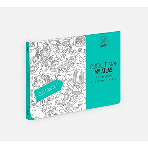 "len, ""Pocket Map, Atlas"" von Omy, Papier, Mehrfarbig ()"