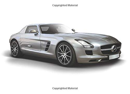 Mercedes SLS: 120 pages with 20 lines you can use as a journal or a notebook .8.25 by 6 inches