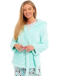 94ddaed774 Ladies Womens Dressing Gown Marks and Spencer Fleece Snuggle Embossed Short  Robe Size UK 8 10