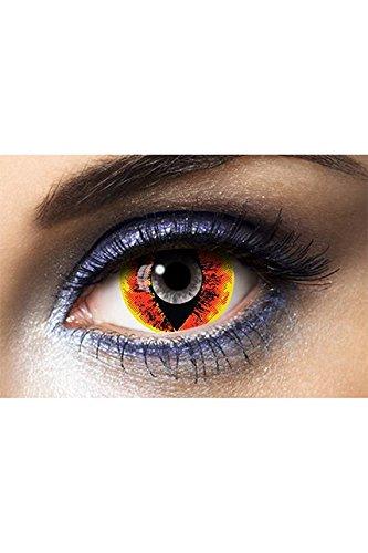Generique Trucco Halloween: lenti a contatto occhio in fiamme
