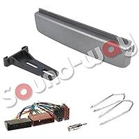 Kit mascherina quadro di Radio Cable ISO Adattatore Antenna e chiavi Ford Cougar, Escort, Fiesta, Focus, Mondeo, Puma, transito Silver