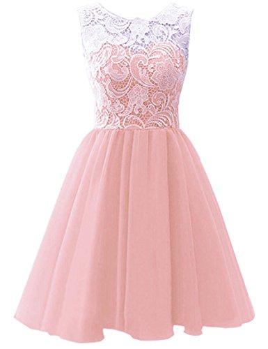 WAWALI Blumenmädchen Spitzen Prinzessin Zieht Sich Zurück - button 3 (Up Dress Cinderella Kleidung)