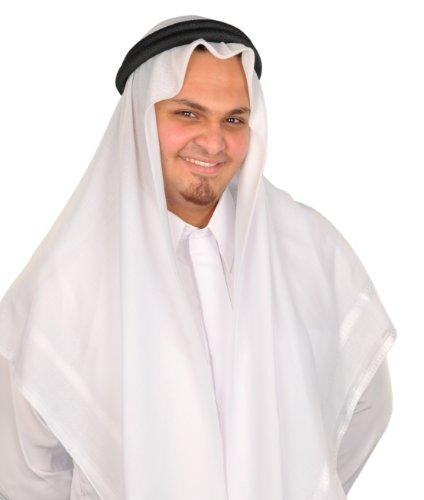 Traditionelle Arabische Kopfbedeckung Scheich - Araber Kopftuch- Karnevalskostüm/ Farbe: weiss (Arabische Kostüme Männer)