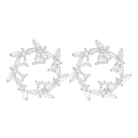1Paar neuesten trendigen ear-ring Clip weiß gold vergoldet Hohl Frauen antiallergen Jewelry Ohrstecker