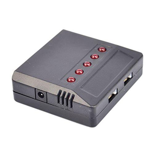 Lommer 5pcs 1000mah Lipo Batterie mit 5 in 1 Ladegerät und Sicherheit Explosionsgeschützte Tasche für MJX Hubschrauber T04 / T05 / T25 / M03 / F28 / F29 - 4
