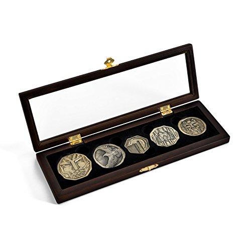 Hobbit Zwergen Münzen Set Film Repik aus Smaugs Drachen Hort 5 Münzen in (Film Replica Props)