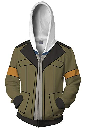 Voltron: Legendary Defender of The Universe Lance Charles McClain Kapuzenjacke Hooded Grün ()