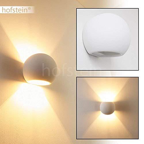 Wandlampe Flot aus Keramik in Weiß, Wandleuchte mit Up & Down-Effekt, 1 x G9-Fassung max. 33 Watt, Innenwandleuchte mit handelsüblichen Farben bemalbar, geeignet für LED Leuchtmittel - Keramik-bad-wandleuchte
