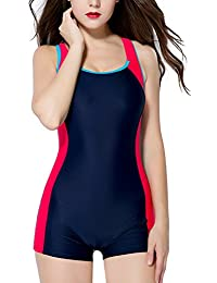 f7a7a2b76c7db CharmLeaks Women Boyleg One Piece Swimsuit Sport Swimming Costume Modest  Swimwear