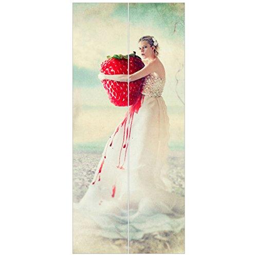 Vliestapete Tür–Strawberry Princess–Tür Wand Wandbild, Dimension HxB: 215x 96–0,00