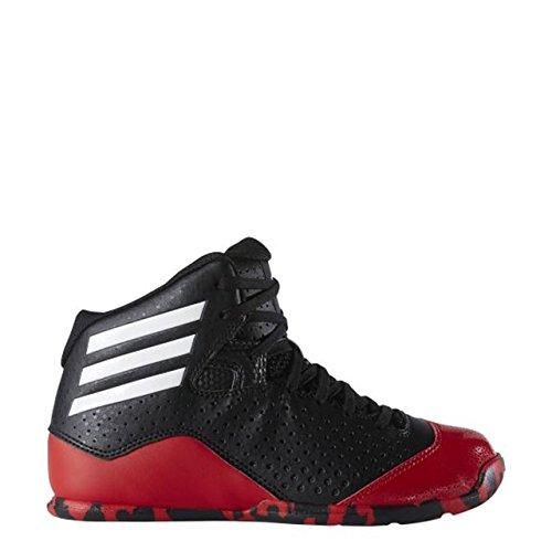 adidas  Nxt Lvl Spd Iv K, espadrilles de basket-ball mixte bébé Noir / blanc / rouge (noir essentiel / blanc Footwear / écarlate)