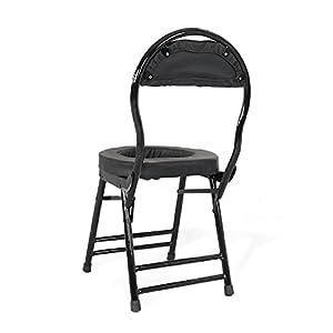 Sitz mit Kommode älterer Toilettenstuhl Portable closesool Nachttisch Kommode für Senioren Behinderter Kommode Stuhl faltbar stinkpot mber topf Medizinischer Toilettenstuhl Toilettenschüssel schwarz