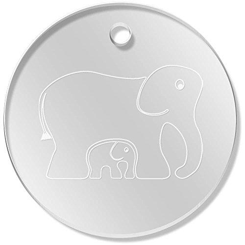 Azeeda 11 x 34mm 'Elefantes' Colgante Claro (PN00015130)