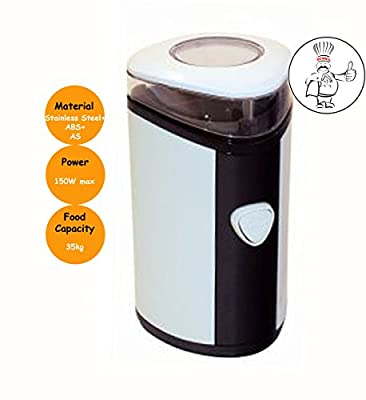 Electric Coffee Grinder Black/White Mixer Bean & dry Spice Crusher 150W Max from Denny International®