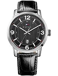 Tommy Hilfiger Watches Herren-Armbanduhr XL GEORGE Analog Quarz Leder 1710342