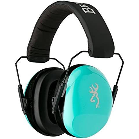 Browning Buckmark II Hearing Protector Ear Muffs,Aqua for Her by Browning