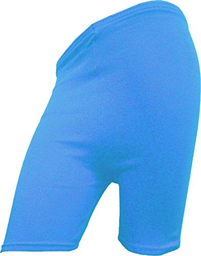 RD Fashion ® de cyclisme en coton pour femme Motif Dancing-Short stretch-dessus du genou Active Short Short de Sport/legging Multicolore - Turquoise