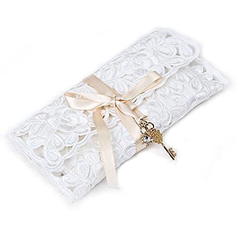 joyas de encaje de enrollar caso - KingOfHearts™ la bolsa de laminación del cordón por un organizador, almacenamiento y visualización de aretes, collares, anillos, pulseras, pequeña bolsa de viaje para la protección de la joyería -