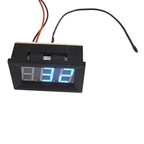 lzn DC 12V Digital Thermometer -30~+70℃ Temperatur Detektor LED-Anzeige Test Temperature Sonde mit Temperaturfühler (A / C-umwandlung)