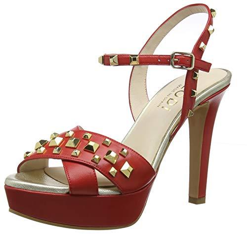 Lodi Titus, Sandalias con Plataforma para Mujer, Rojo Glove Tristan, 40 EU