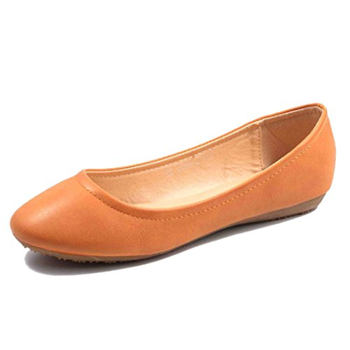 Jumex Damen Ballerinas Sommer Schuhe Slipper XL 36-43 Camel