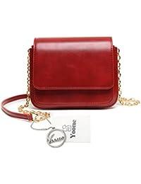 Yoome bolso de la aleta retro estilo de color puro callejón elegante zigzag cadena plegable grandes bolsas para las mujeres