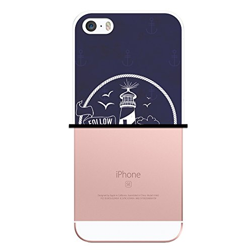 iPhone SE iPhone 5 5S Hülle, WoowCase Handyhülle Silikon für [ iPhone SE iPhone 5 5S ] Seefahrerstil- Leuchtturm Handytasche Handy Cover Case Schutzhülle Flexible TPU - Transparent Housse Gel iPhone SE iPhone 5 5S Transparent D0155