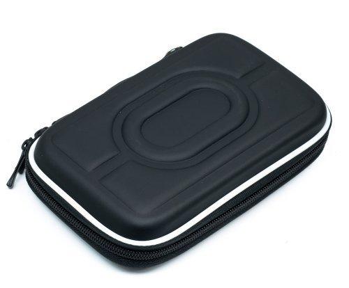 QUMOX Nero 2.5' Borsa Custodia Rigida per HDD Portable Hard Drive Custodia Doppia Chiusura Lampo Copertura del Disco
