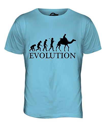 CandyMix Kamelrennen Kamelreiten Evolution Des Menschen Herren T Shirt Himmelblau