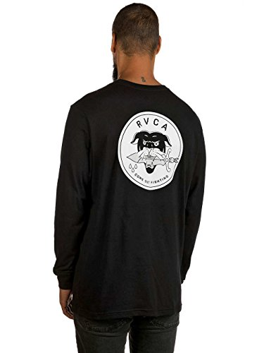 Herren Langarmshirt RVCA Rvca Panther T-Shirt Black
