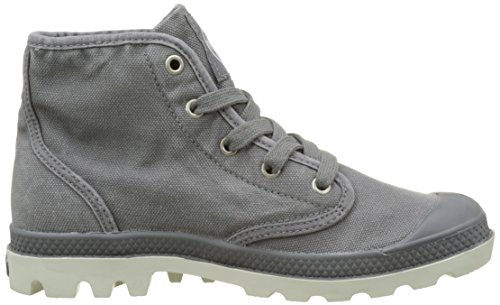 Palladium  Pampa Hi, Hohe Sneakers femme Gris (Quiet Shade/silver Birch)