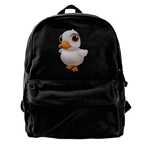 Rucksäcke, Daypacks,Taschen, Classic Canvas Backpack White Abstract Bird Unique Print Style,Fits 14 Inch Laptop,Durable,Black