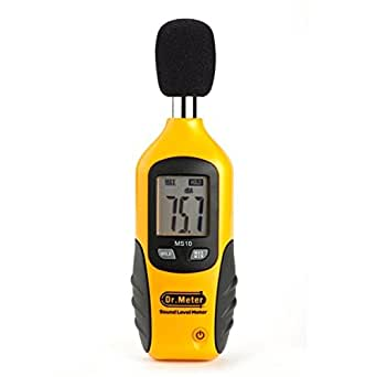 Dr.Meter® MS10 Sonomètre numérique Décibel Testeur 30 dBA - 130 dBA- [Pile 9V compris] Dr.Meter®